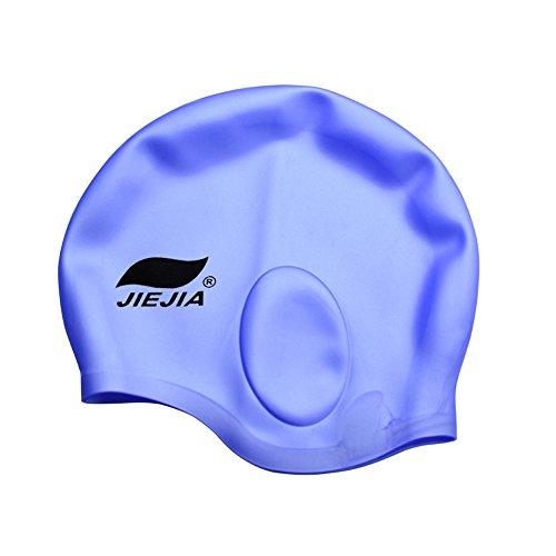 Kancai® cuffia da nuoto in silicone, per donne e uomini di capelli lunghi da nuoto copriorecchie ear tasche con impugnatura ergonomica, anti-usura estremamente elastico per cappelli da nuoto