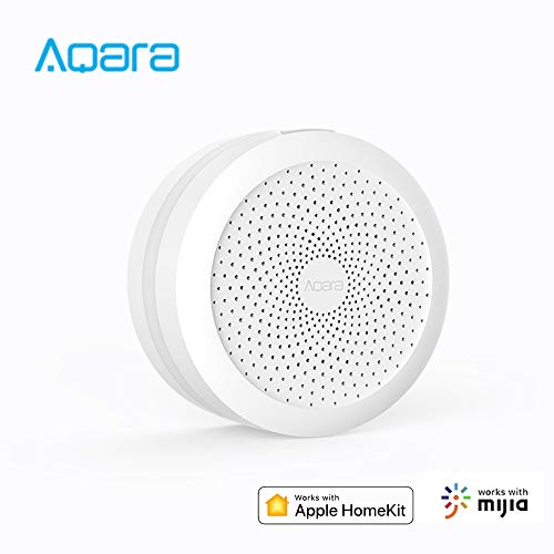 Aqara Smart Home Hub, WiFi Mihome Gateway Inteligentes Home Automation Hub Smart Home Centro Control de Monitoreo Dispositivos Inteligentes, Compatible con Siri Control de Voz, con HomeKit MiHome