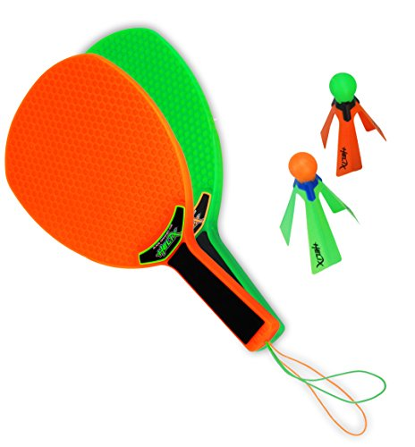 Helix Power Spin Play - Speed Badminton - Federball Set - Strand Ballspiel