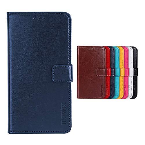 SHIEID Handyhülle ZTE Blade V10 Hülle Brieftasche Handyhülle Tasche Leder Flip Case Brieftasche Etui Schutzhülle für ZTE Blade V10(Dunkelblau)