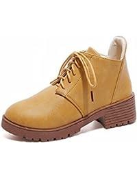 Botas Cortas de Moda de Moda con Cerillas Gruesas con un Solo Zapato , amarillo , EUR36.5