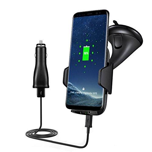 Fansport Auto Handyhalter, Wireless Charger Schnelles Aufladen Autohalterung Handyhalter Ladegerät für Samsung S8 S8 + S7 Rand S6 + Note 5