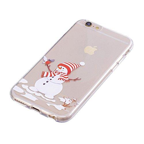 Coque iPhone 6 Plus, iPhone 6S Plus Case, Voguecase [Ultra Fin] [Anti Choc] Nouveau TPU Silicone Conçu pour Noël, Exact Fit / Léger / Souple Housse Etui Coque Pour Apple iPhone 6 Plus/6S Plus 5.5 (Cèd Bonhomme de neige