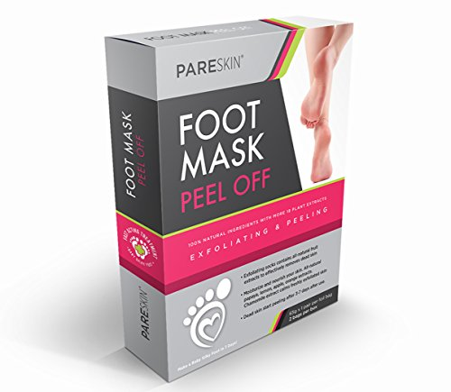 Pareskin Foot Peel Mask, Peeling Away, Dry Dead Skin, Callus Remover Spa Pads, Repair Rough Cracked Heels – Naturally Silky Soft Feet – Detox Exfoliating Socks (2 PAIRS)
