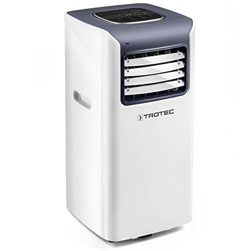 TROTEC Acondicionador de aire local PAC 2010 S de 2,0 kW / 7.000 Btu (EEK:A) 3 modos de funcionamiento: refrigeración, ventilación, deshumidificación/ Función del temporizador/ Mando a distancia infrarrojo IR/ Función de limpieza del aire/ Dirección del flujo de aire ajustable
