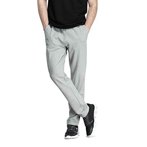 CAMEL Herren Jogger Sweatpants Athletic Basic Fleece Gym Running Hosen für Herren mit Taschen, Herren, Hellgrau, XX-Large Running Athletic Hose