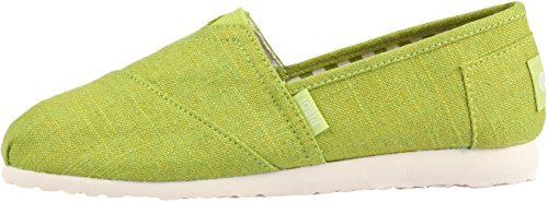 Unisex Fashion Paperplanes 1196–Casual, facile à enfiler-Ons Chaussons Vert - 1196-Green