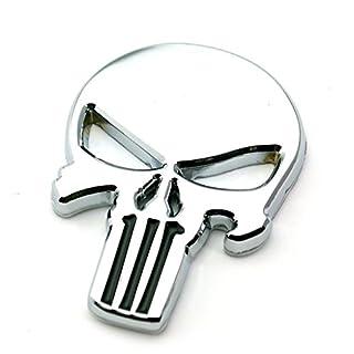 Metall Emblem Aufkleber Punisher Chrom