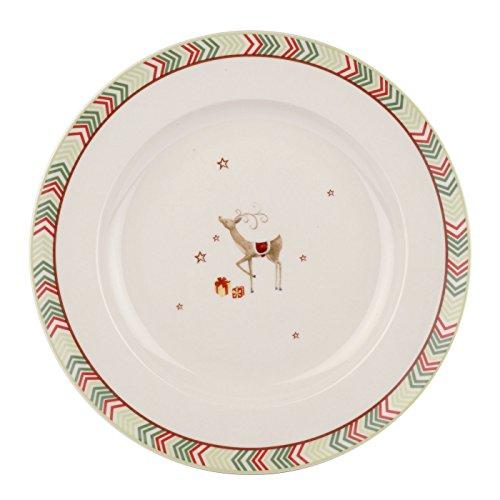 Christmas Jubilee 27 cm Chevron Dinner Plate Set of 4 Multi-Colour  sc 1 st  Amazon UK & Christmas Dinner Plates: Amazon.co.uk