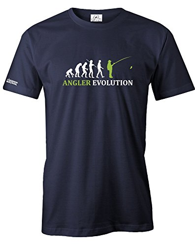 ANGLER EVOLUTION - HERREN - T-SHIRT in Navy by Jayess Gr. XL (Lange Fisch-haken)