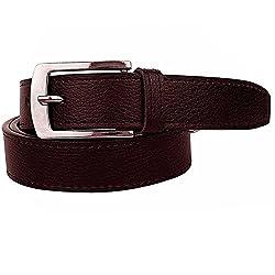Shara Men's PU Leather Belt (Brown)(SHA/MENSBELTS/BROWN)