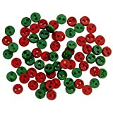 Micro Red & Green 4mm - Novelty Craft Buttons & Embellishments by Dress It Up
