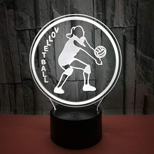 3D Optical Illusion Lampe 7 Farben Usb Touch Schalter Nachtlicht Volleyball Geburtstag Valentinstag Schlarfzimmer Dekoration Für Kinder Kinder Weihnachts Geschenk