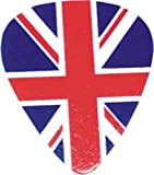 """BRITISH FLAG Set of 12, Officially Licensed Original Product, 3"""" x 3"""" x 0.5"""" Guitar Pick"""