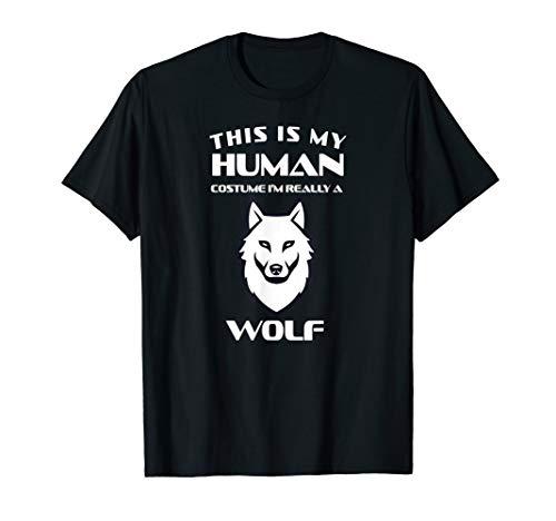 Wolf Kostüm Tier Werwolf Wald Spruch Geburtstag Geschenk T-Shirt