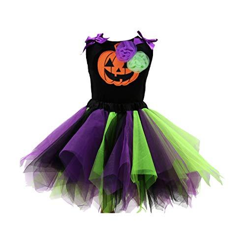 Sronjn le ragazze vestono girls halloween stampate senza maniche vest gonna colore set casual stile 4