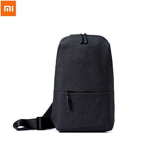 Xiaomi Mi City Sling Bag - Zaino Unisex con tasca frontale, Grigio Scuro