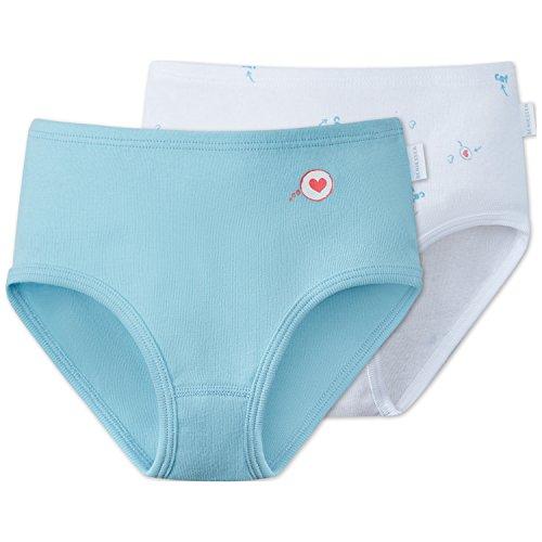Schiesser Mädchen Unterhose 2pack Hüftslips, 2er Pack, Mehrfarbig (Sortiert 1 901), 140