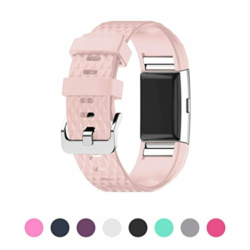 sunface-fitbit-charge-2-strap-blush-pink-special-3d-decorative-pattern-design-replacement-band-for-f