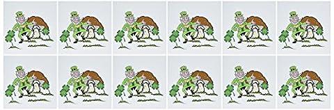 3dRose 8 x 8 x 0.25 Inches Greeting Cards, Set of 12, Leprechaun Dancing (gc_18443_2)