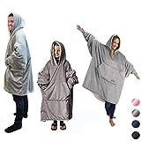 Comfy Giant Blanket Sweatshirt, Ultra Plush blanke Hoodie, Reversible Hooded Bathrobe Sweatshirt,one Size Fit All Adults Men Women Teens Children