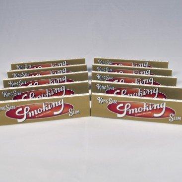 10 paquets Smoking Gold Slim
