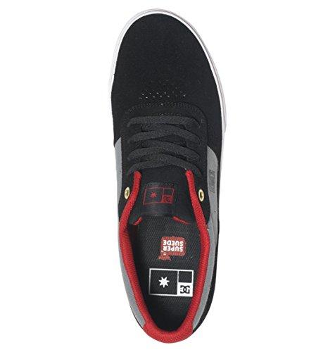 DC Mens Switch Skate Shoes, Black/Light Grey, 10D Black/Light Grey