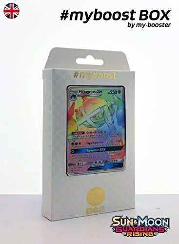 Coffret #myboost METAGROSS GX Secrete (Metalosse) 157/145 - SUN AND MOON 2 - 10 cartes Pokemon anglaises