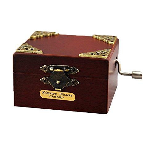 Retro-Spieluhr YouTang (TM), aus Holz in Miniaturgröße, 18 Noten, Handkurbel, Musikspielzeug, holz, stil 1, Tune:Over the Rainbow