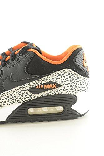 nike air max 90 safari (GS) running trainers 820340 sneakers shoes (uk 6 eu 39, summit white black clay orange 100)