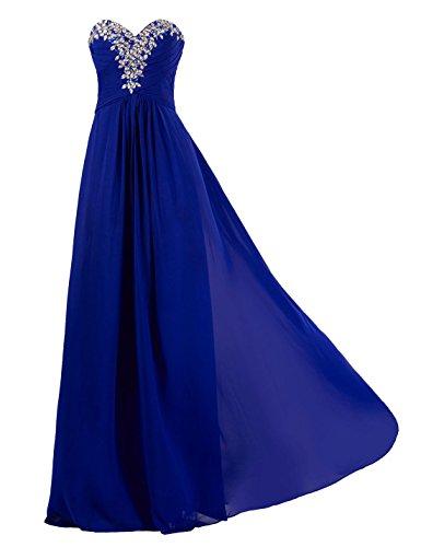 MISSYDRESS Damen A-Linie Kleid Gr. 46, blau (Fiesta Ruffle)