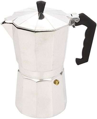 Ibili Bahia Espressokocher, Kaffeekocher, Mokkakocher aus Aluminium für 9 Espresso-Tassen