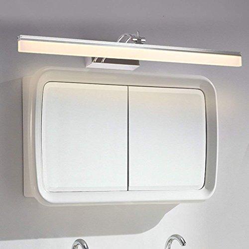 Wall light Führte Spiegel-Kabinett-spezielle Lampen, geführtes Spiegel-Licht, Make-up, Das Edelstahl-Badezimmer-Wand-Lampen-Spiegel-Licht, Wasserdichte Wand-Licht beleuchtet,Weißes Licht-16W / 80cm - Make-up-spiegel Wand Beleuchtete