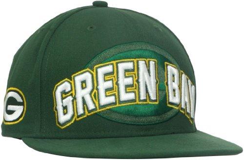 NFL Green Bay Packers Draft 5950 Cap, Herren, 10513230, dunkelgrün, 7 1/4