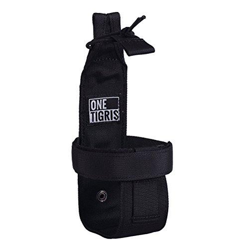 OneTigris Outdoor Sport Nylon Molle System Trinkflasche Halter Flaschentasche Wasserkocher Tasche (Schwarz-neue Version)