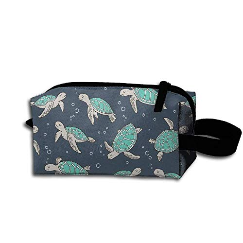 Sea Turtles Green Travel Makeup Cosmetic Pouch Makeup Travel Bag Purse for Women Or Girls Pretty Makeup Bags