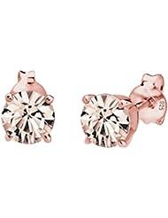 Elli Damen-Ohrstecker Roségold Swarovski Kristalle 925 Silber Swarovski Kristall rosa Brillantschliff - 0310890215