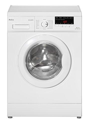 Amica WA 14657 W Waschmaschine FL / A+++ / 196 kWh / Jahr / 1400 UpM / 8 kg / 9680 L / Jahr / Elektronisch mit 16 Haupt-Programmen, übersichtliches LED-Display / 3 Zusatzfunktionen Temperaturwahl, Drehzahlregulierung, Startzeitverzögerung  weiß