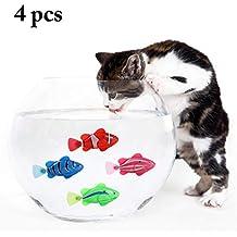 Legendog 4PCS Gato Juguetes Eléctrico Artificial Emocionante Los Peces Gato Burlas Juguete