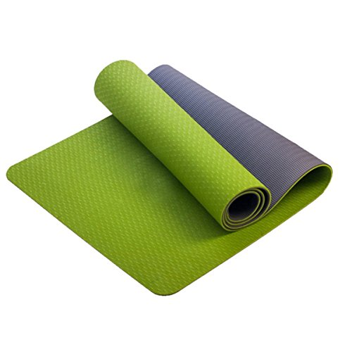 XFAY Doppel Yogamatte - Umweltfreundliche und hypoallergene TPE-Matte/weich und Rutschfest/ideal für alle Yoga-Lehrer und Yogis - Maße: 183 x 61 x 0.6 cm - In vielen Farben erhältlich