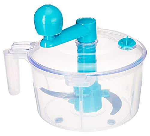 Kuber Industries Plastic 3 in 1 Dough/Atta Maker Vegetable Cutter Beater/Churner (Sky Blue) - CTKTC30888