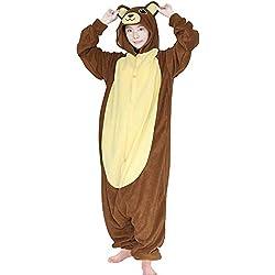 8a07bfe888 FORLADY Unisex Tutina Adulto Pigiama Animale Tuta in Pile Costume da Gioco  Famiglia Pigiama Orso