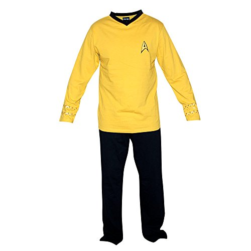 Uniform Trek Serie Original Kostüm Star - Star Trek The Original Series Command Kirk Uniform Pajama Set | M