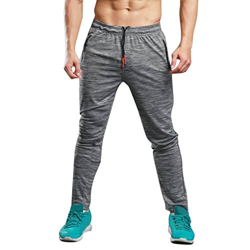Chándal hombre Pantalones deportivos casuales largos de hombres Ropa deportiva Pantalones anchos Joggers Pantalon de Correr Jogger para hombres Running Yoga deportiva Pantalones Deportes fitness leggings termicos Amlaiworld (Gris, XL)