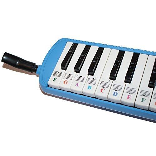 Piano Aufkleber für 32Schlüssel melodica-transparent und abnehmbar mit gratis Piano eBook