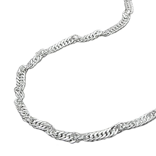 Kette, Singapur, 40cm, Silber 925