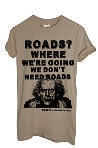 T-shirt doc emmett ritorno al futuro - film by image dress your style - uomo-m-sabbia