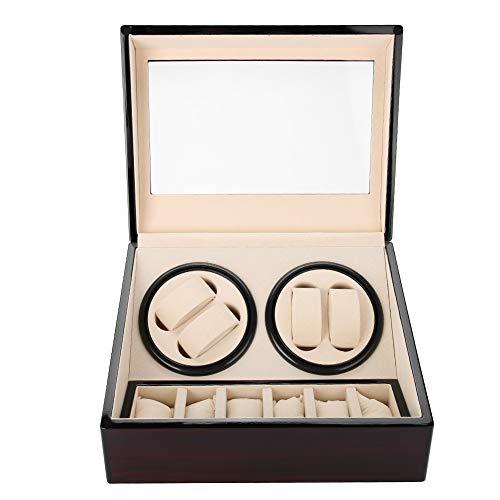 astuccio di avvolgitore di Rotazione automatica per Orologi storage box per Orologi O, DA organizzatore E Spettacolo, 4+ 6Grids ROSSO + BIANCO