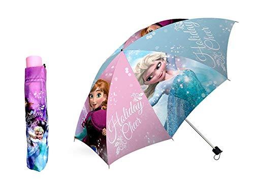 Disney frozen - ombrello pieghevole manuale 55cm anna elsa