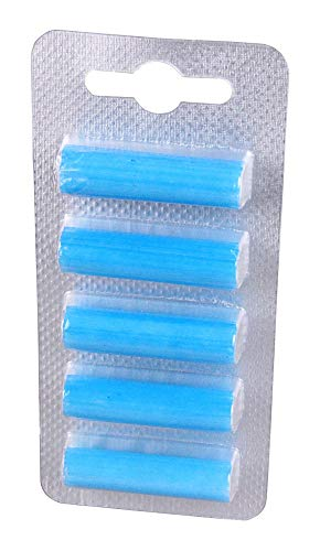 blupalu 5 Stück I Deo-Sticks I Vanille Kokos Nuss Geruch I Duft-stäbchen für Staubsauger I für jedes beliebige Staubsaugermodell mit Beutel geeignet I Staubsauger-beutel frisch und angenehm I Blau